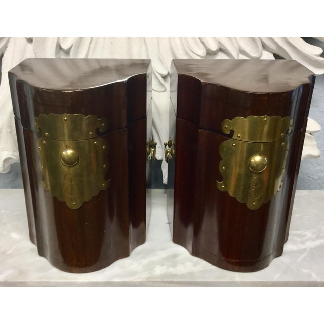 Early 20th Century Antique Mahogany Knife Document Boxes - A Pair For Sale - Image 11 of 11