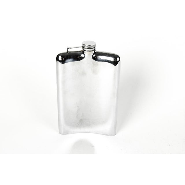 Contemporary Sterling Silver Flask For Sale - Image 3 of 5