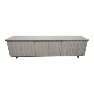 Audio Visual Oak Cabinet With Driftwood Finish For Sale
