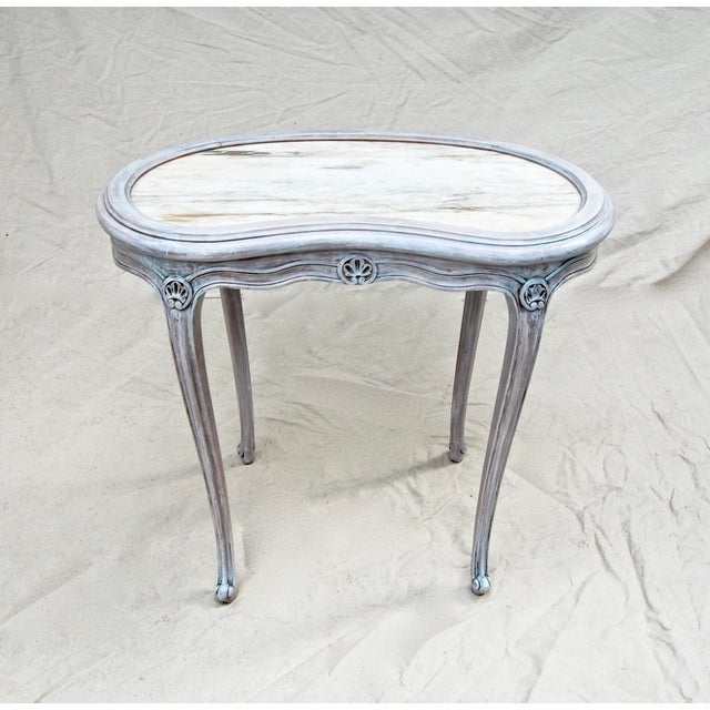 French French Kidney Shape Marble Top Table For Sale - Image 3 of 12