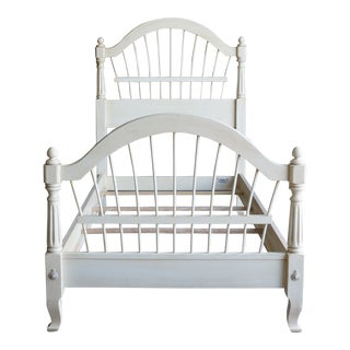Ethan Allen French Country Wheatback Twin Bedframe For Sale