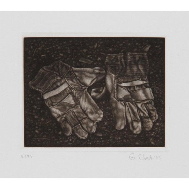 Modern Gerde Ebert, Pair of Gloves, Mezzotint For Sale - Image 3 of 3