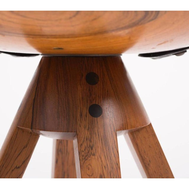 Wood Tove and Edvard Kindt-Larsen Swivel Stool in Rosewood, 1957 For Sale - Image 7 of 10