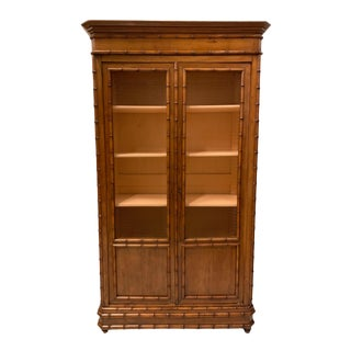 19th-C. Faux Bamboo Armoire Att. r.j. Horner and Co. For Sale