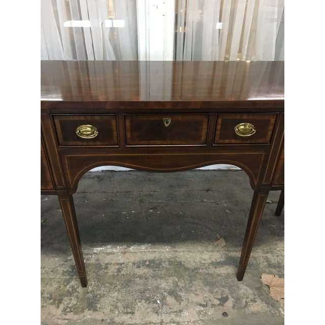 "Federal Drexel ""18th Century"" Mahogany Sideboard Buffet For Sale - Image 3 of 9"