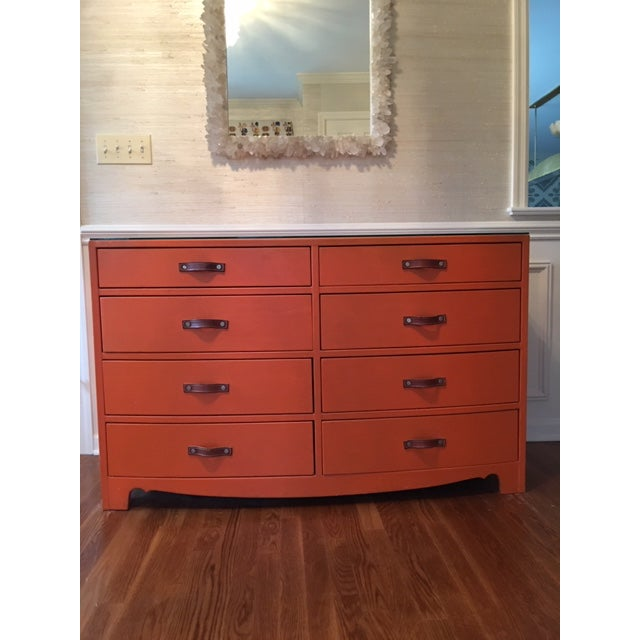 Incredible piece! Hermes Inspired leather wrapped chest of drawers purchased from the acclaimed designer Ruthie Sommers!...