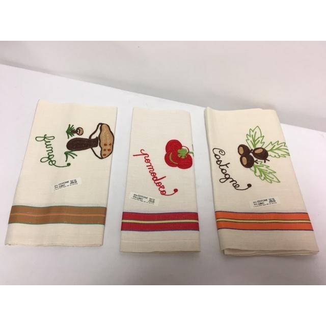 Vintage Italian Linen Kitchen Towels - Set of 3 - Image 2 of 5