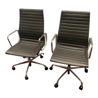 Eames Aluminum Executive Desk Chairs From Herman Miller - a Pair For Sale