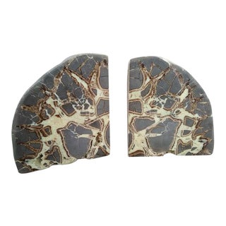 Septarian Concretion Bookends - a Pair