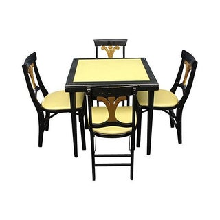 Stakmore French Quarter Style Game Table & Chairs For Sale