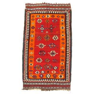 "Pasargad N Y Persian Shiraz Ghashghaei Kilim Rug - 4'6"" X 7'10"" For Sale"