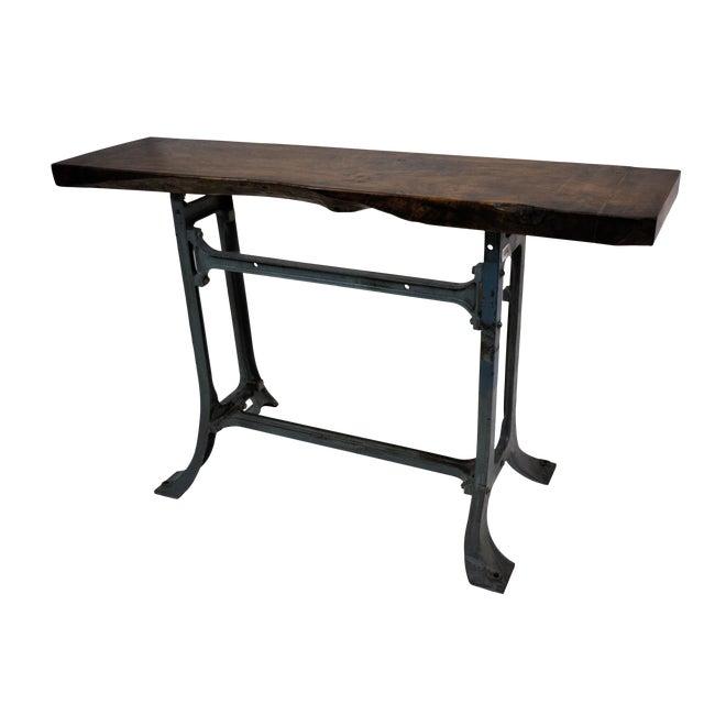 Handmade Walnut & Steel Console Table - Image 1 of 10