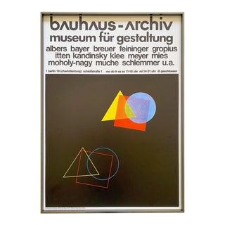 """Bauhaus Archiv"" Vintage 1970 Lithograph Print Framed Modernist Museum Exhibition Poster For Sale"