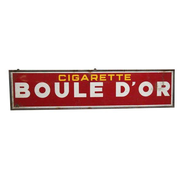 boule d or cigarette sign chairish