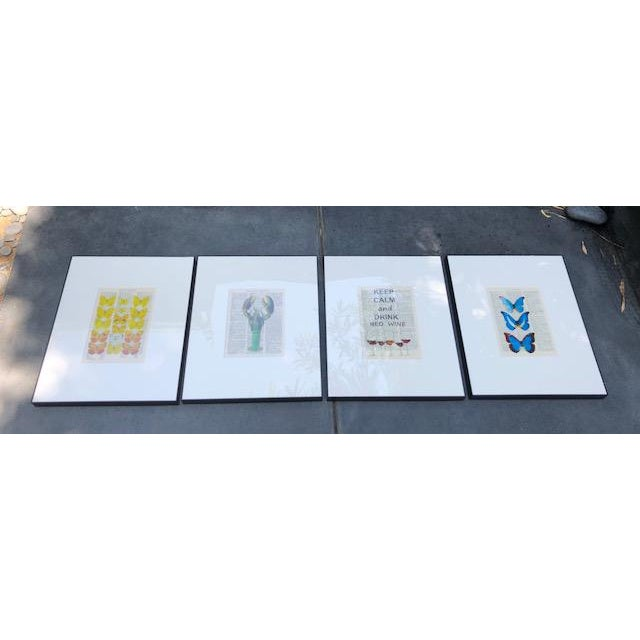 Early 21st Century Original Prints on Italian Dictionary Page For Sale - Image 5 of 6