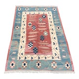 Image of 1960s Turkish Antique Pastel Kilim Rug - 3′3″ × 5′4″ For Sale