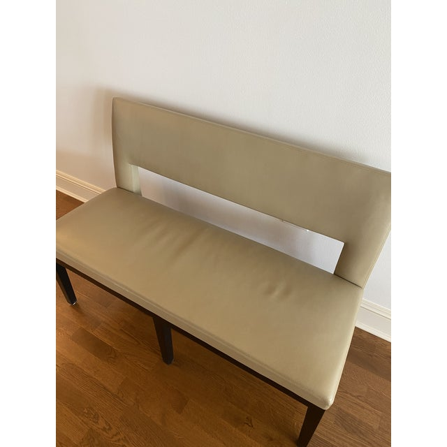 Holly Hunt Christian Liaigre Leather Velin Banquette Bench For Sale - Image 9 of 11