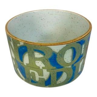 1970s Royal Copenhagen Gallery Bo Kristiansen Art Pottery Fajance Aluminia Bowl