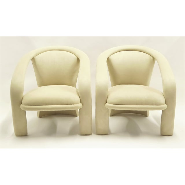 Contemporary Space Age Modern Pair Pop Armchairs by Carson's, 1980s For Sale - Image 3 of 13