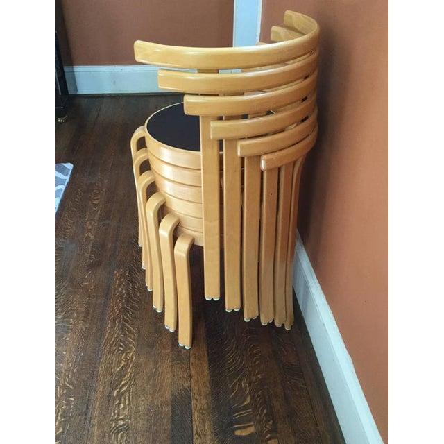 Offered is a set of 6 model 802 chairs by Danish designers Rud Thygesen & Johhny Sørensen manufactured by Magnus Olesen,...