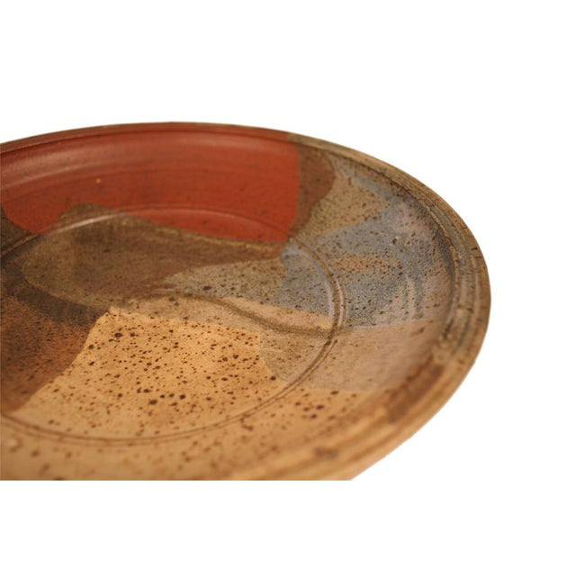 Abstract Abstract Glazed Stoneware Charger For Sale - Image 3 of 9