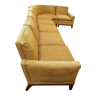 Baker Furniture, Midcentury Six-Piece Sectional Sofa