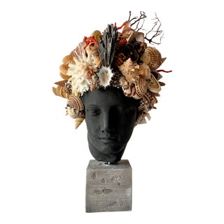 Black Hygiea Head Sculpture For Sale