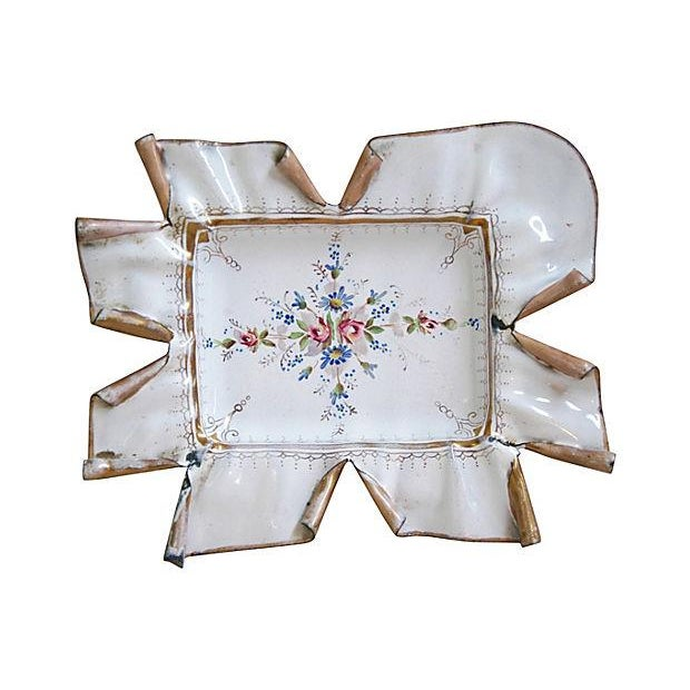 Vintage 1950s French Hand-Painted Catchall Tray - Image 2 of 7