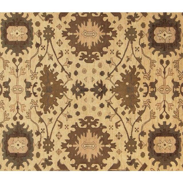 "Transitional Kafkaz Peshawar Casey Ivory & Tan Wool Rug - 10'2"" x 13'6"" For Sale - Image 3 of 7"