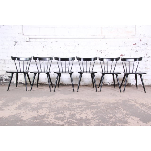 Paul McCobb Ebonized Planner Group Dining Chairs, Set of Six For Sale - Image 9 of 9