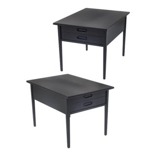 Mid-Century Modern Side Tables or Nightstands - a Pair