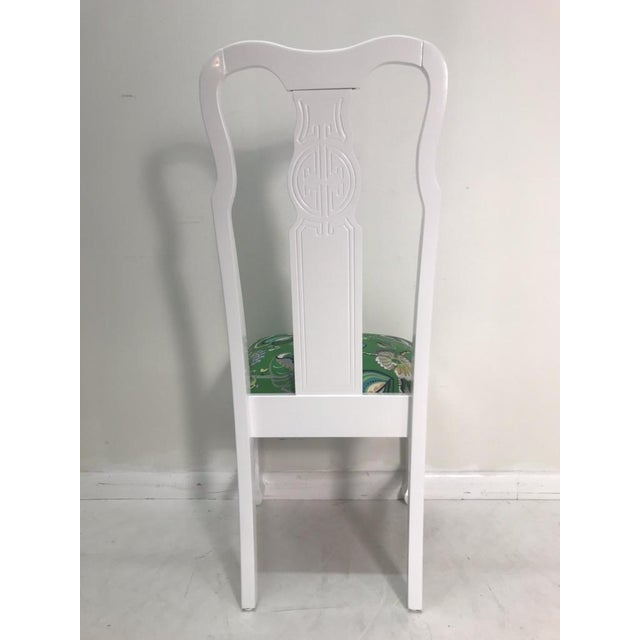 Vintage Asian Chinoiserie Style Dining Chairs - Set of 8 For Sale In West Palm - Image 6 of 10