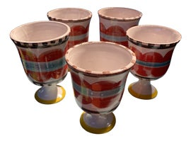 Image of Ceramic Wine Glasses and Goblets