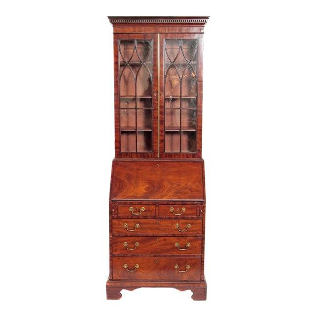 Period George III Secretary Bookcase of Mahogany For Sale - Image 11 of 11