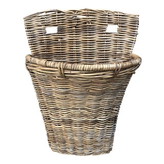 French Gathering Basket For Sale