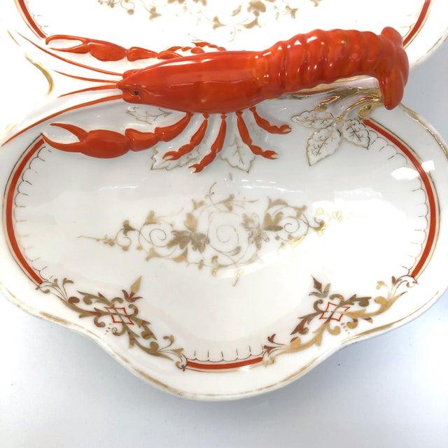Ceramic Lobster Faïence Serving Platter For Sale - Image 7 of 12