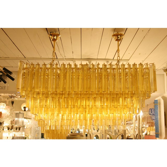 Venini Stunning Venini Rectangular Chandelier For Sale - Image 4 of 5