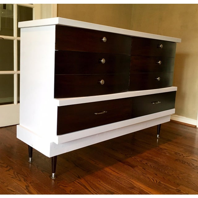 Two-Tone Mid-Century Modern Dresser - Image 4 of 5