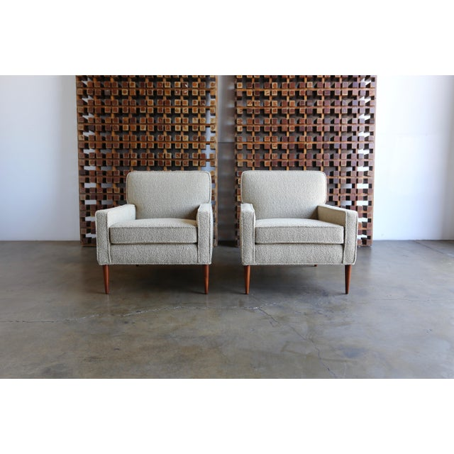 Tan Mid Century Paul McCobb Lounge Chairs - a Pair For Sale - Image 8 of 11