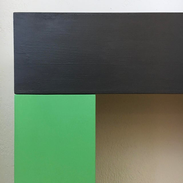 Contemporary Modern Color Blocked Console Table For Sale - Image 3 of 7