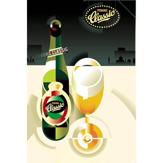2014c. Contemporary Danish Poster, Mads Berg - Tuborg Classic #2 For Sale