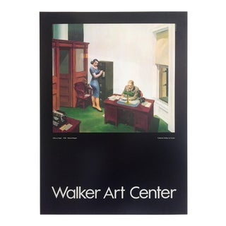 """Edward Hopper Rare Vintage 1981 Lithograph Print Museum Poster """" Night Office """" 1940 For Sale"""