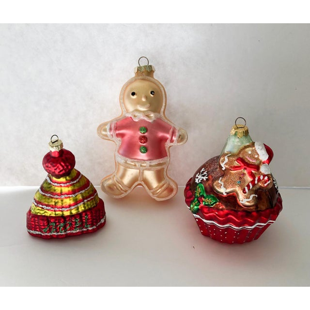 Traditional Gingerbread Man Ornaments, Set of 3 For Sale - Image 3 of 3