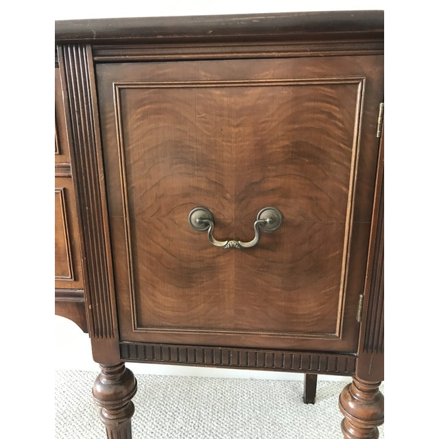 Vintage Detailed Wood Sideboard - Image 8 of 10