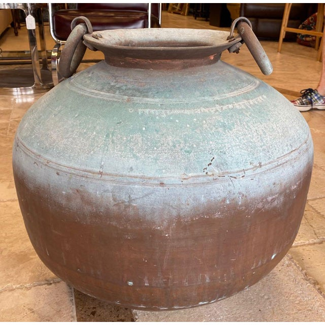 Antique Indian Copper Water Pot For Sale - Image 13 of 13