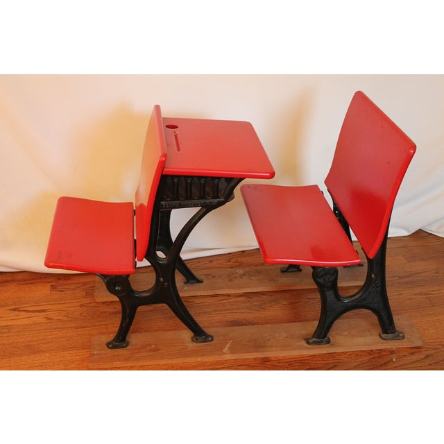Antique Child's Sears and Roebuck Desk & Seat Set - Image 2 of 10