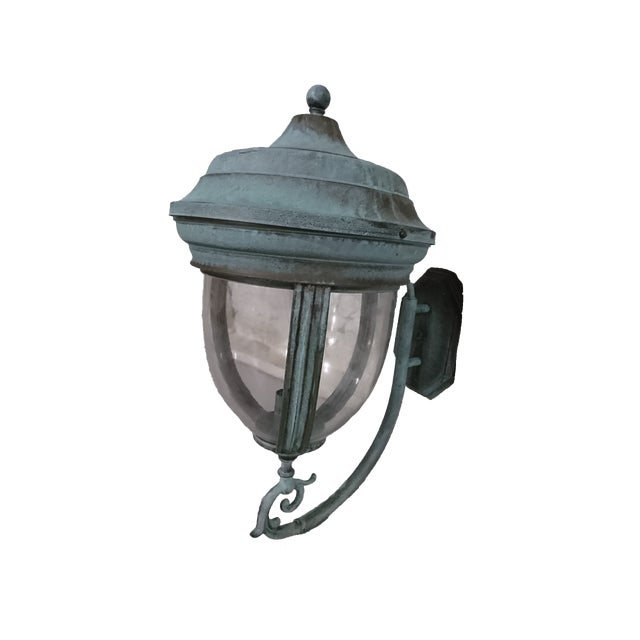 Outdoor Handcrafted Solid Brass Lantern - Image 1 of 9