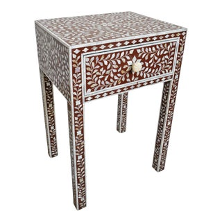 Mother of Pearl Bedside Table For Sale