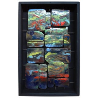 Mid Century Modern Colorful Abstract Enamel Sculpture For Sale