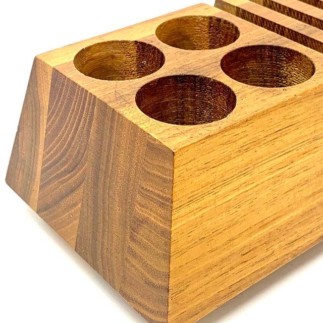 Mid-Century Modern Geometric Wooden Desk Organizer For Sale - Image 11 of 13
